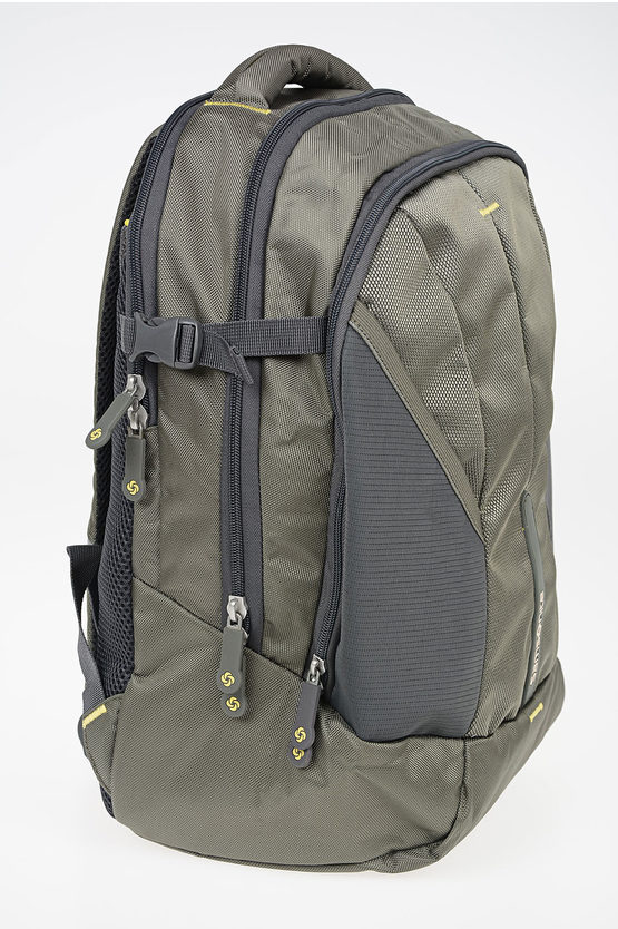 4MATION Laptop Backpack Olive/Yellow