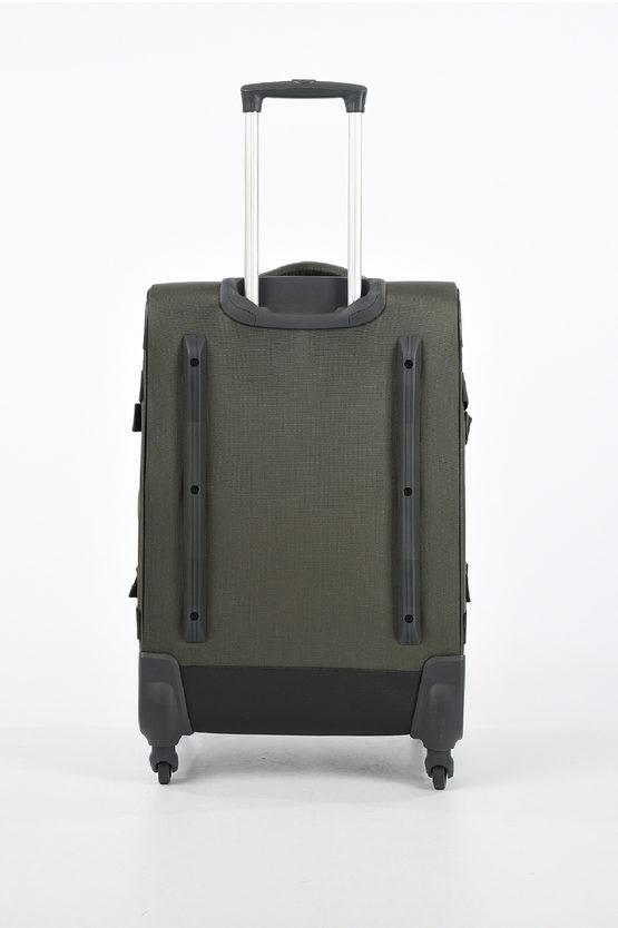 4MATION Medium Trolley Duffle 67cm 4W Olive/Yellow
