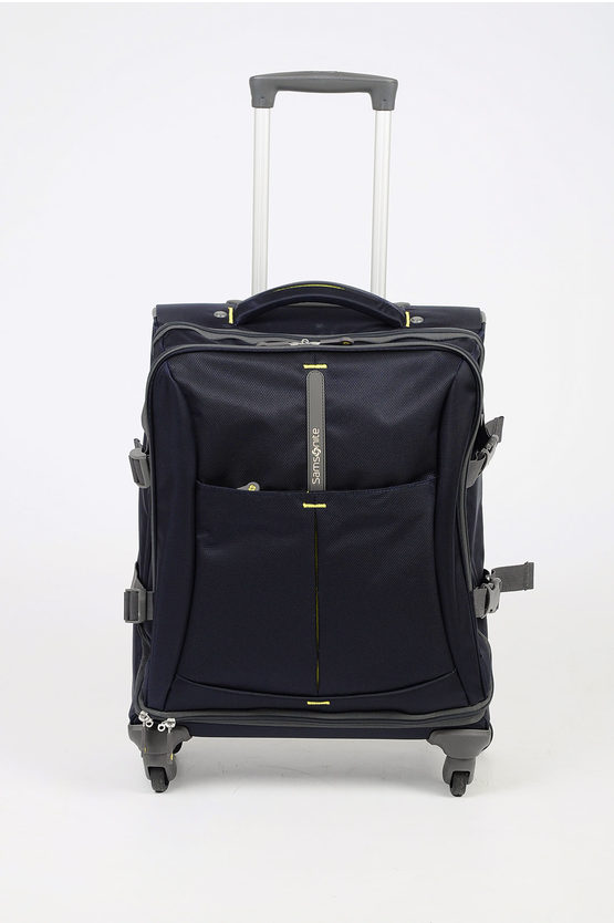 4MATION Trolley Cabina 4R 55cm Blu Notte Giallo