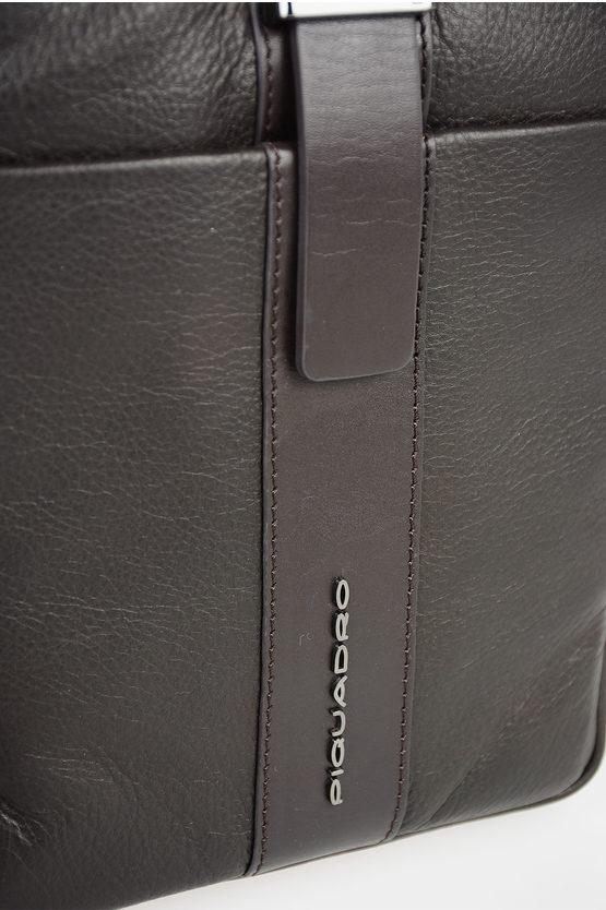 BAE Leather Ipad Crossbody Dark Brown