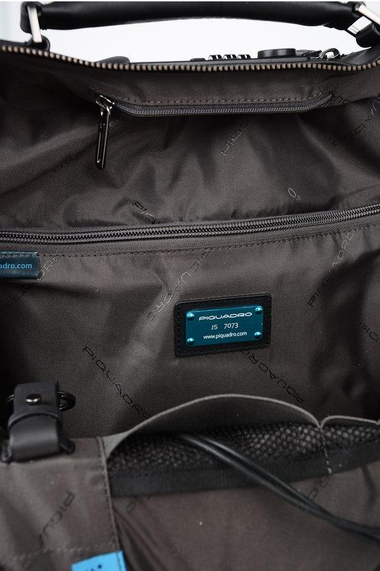 BAGMOTIC Zaino in Pelle Porta Notebook e Ipad Nero