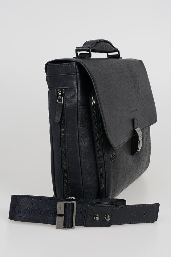 BLACK SQUARE Cartella porta PC 15'' Espandibile Blu