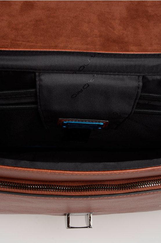 BLACK SQUARE Cartella porta PC 15'' Espandibile Cuoio