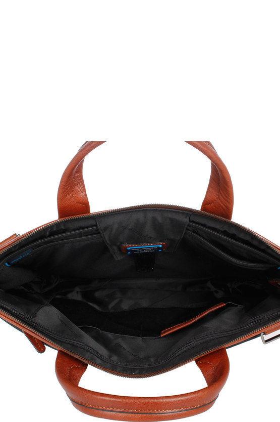 BLACK SQUARE Cartellina porta PC/iPad®Air/Pro 9.7 e CONNEQU Espandibile Cuoio