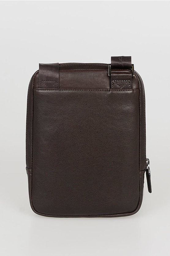 BLACK SQUARE Crossbody Bag for iPad®mini Dark Brown