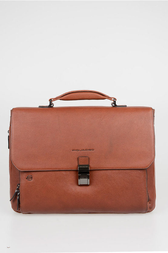 BLACK SQUARE Laptop Briefcase 15'' Expandable Brown