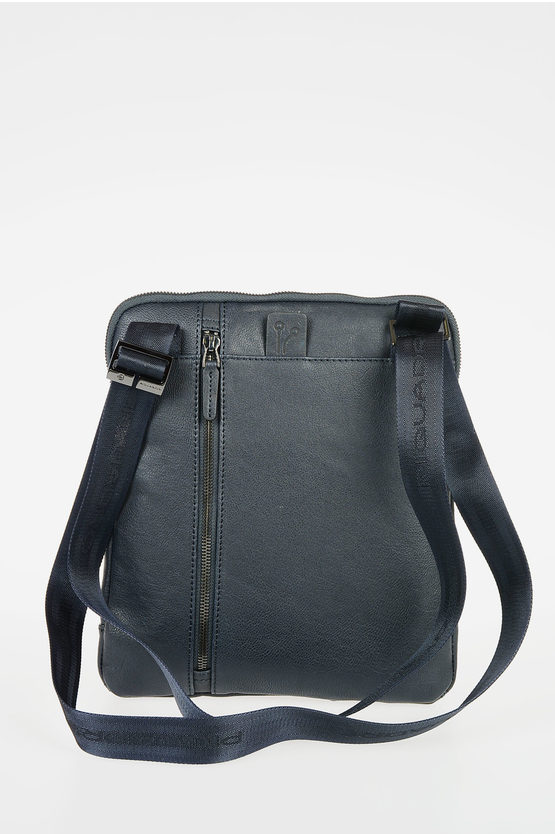 BLACK SQUARE Leather Crossbody Bag Blue
