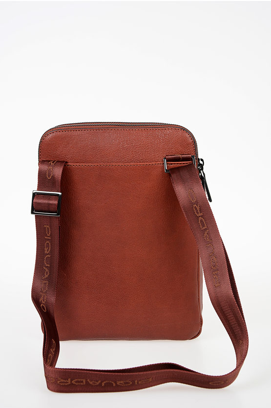 BLACK SQUARE Leather Crossbody Bag Brown