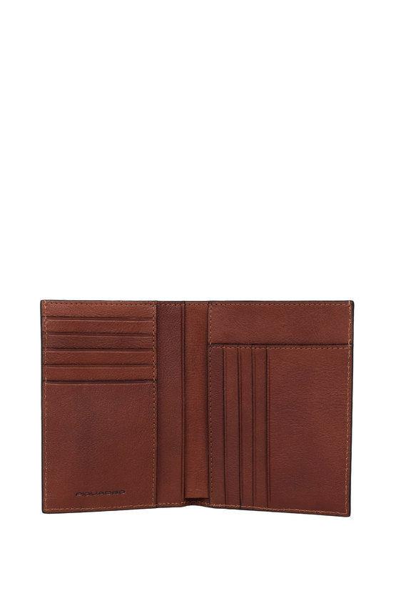 BLACK SQUARE Portafoglio con Porta Carte di Credito Marrone
