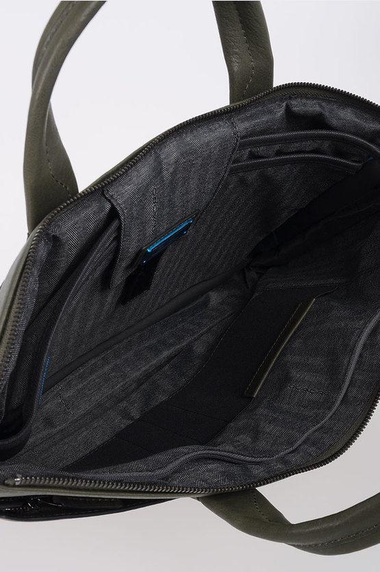 BLACK SQUARE Slim Laptop Briefcase Expandable Green