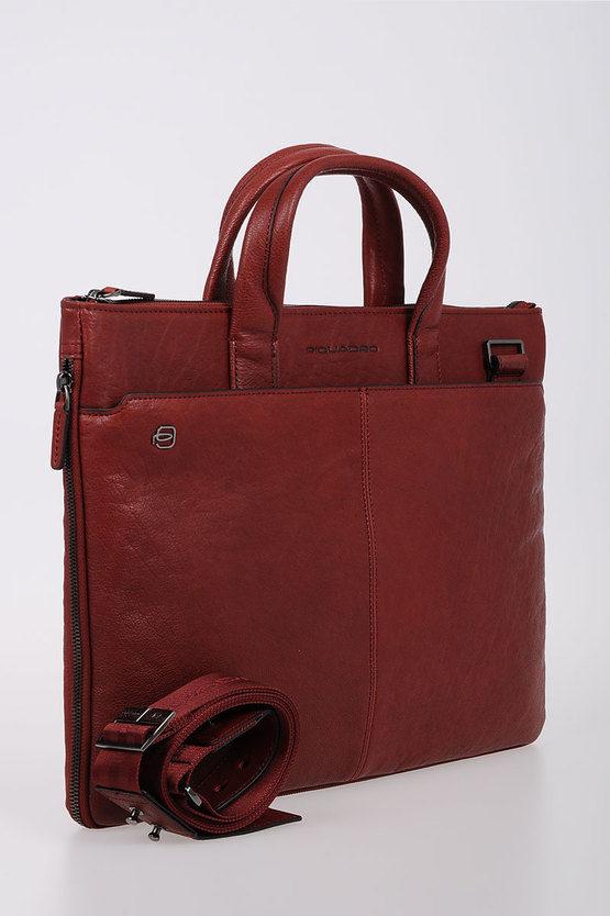 BLACK SQUARE Slim Laptop Briefcase Expandable Red