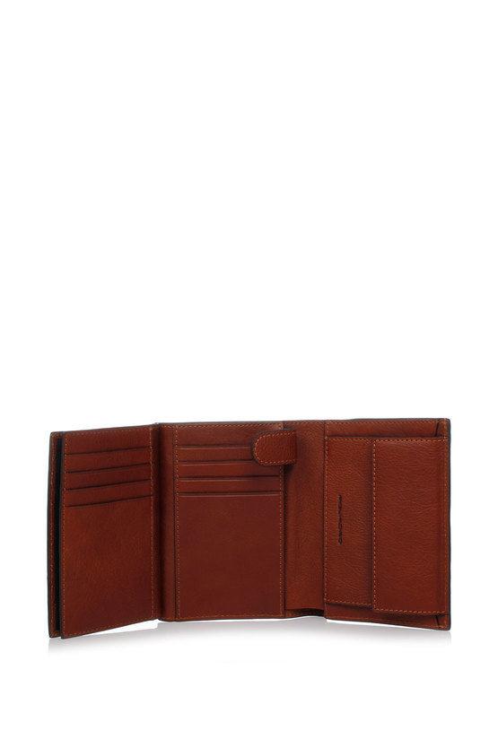 BLACK SQUARE Vertical Wallet Brown