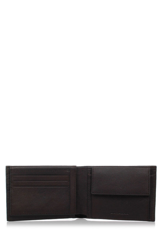 BLACK SQUARE Wallet with Coin Holder DarkBrown