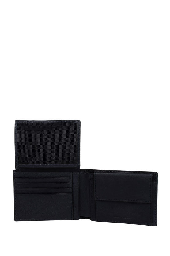 BLACK SQUARE Wallet with Coin Holder