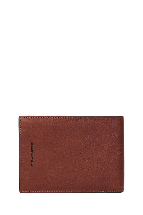 BLACK SQUARE Wallet with Coin Pocket Brown