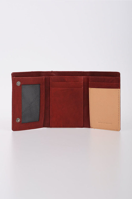 BLADE Wallet with Coin Case and Credit Card Slots Red