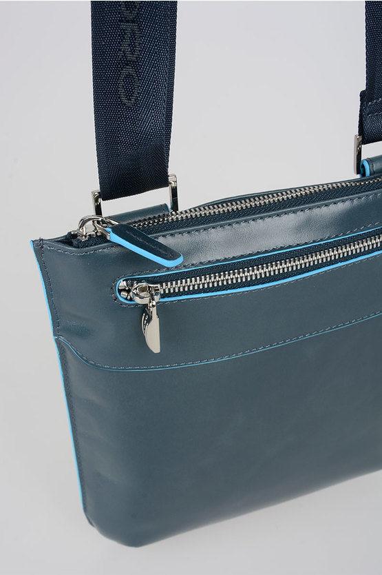 BLUE SQUARE Borsello Piatto Blu