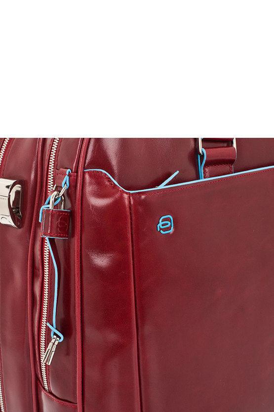 BLUE SQUARE Borsone Weekend con Portacamicie e Porta PC Rosso