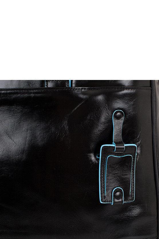 BLUE SQUARE Borsone Weekend porta PC e porta Camicie Nero