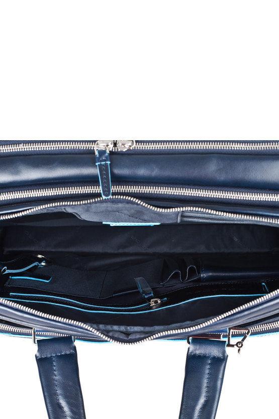 BLUE SQUARE Cartella Due Manici Espandibile Blu