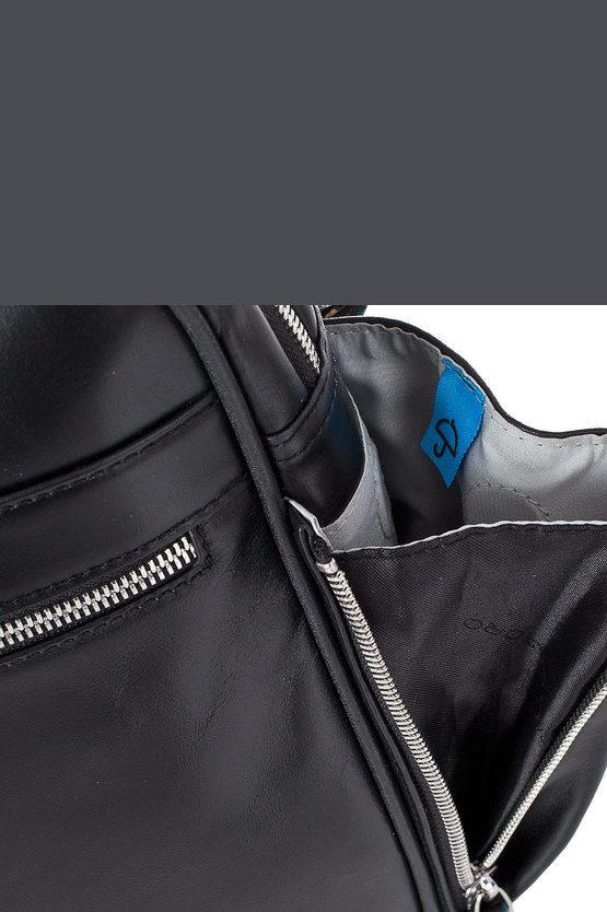 BLUE SQUARE Cartella Due Manici Espandibile Nero