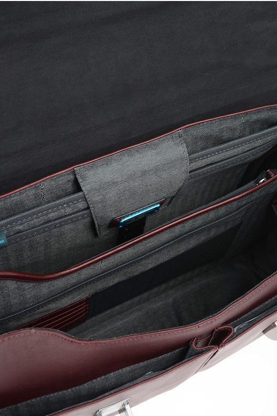 BLUE SQUARE Cartella Porta Documenti e PC in Pelle Testa di Moro