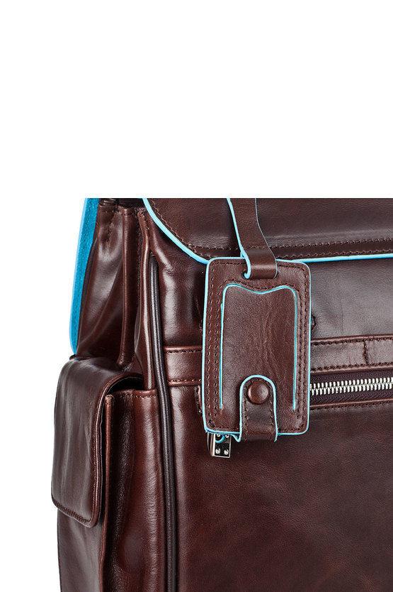 BLUE SQUARE Cartella porta PC 15'' Mogano
