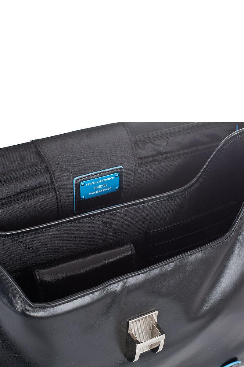 2dba596066 BLUE SQUARE Cartella porta PC 15'' Nero Piquadro uomo - Cuoieria ...