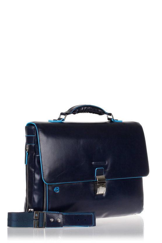 BLUE SQUARE Cartella Porta PC Espandibile Blu
