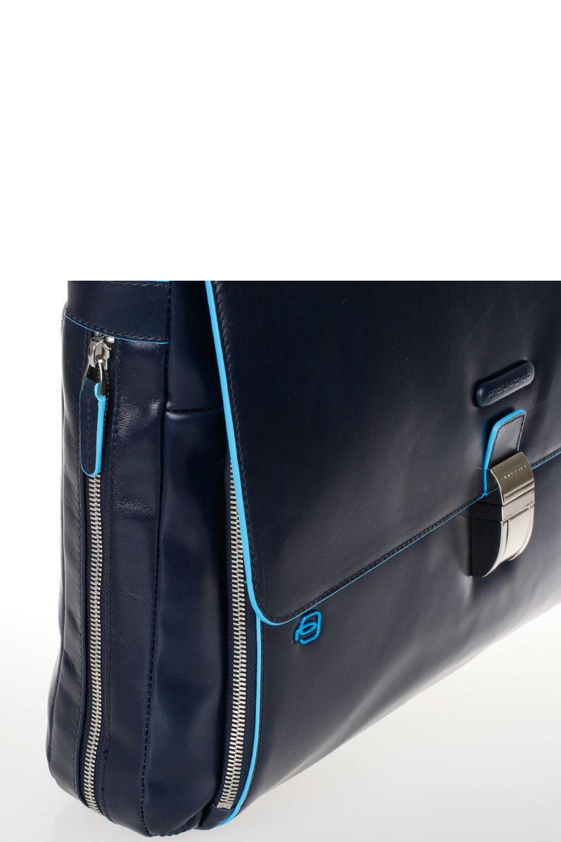 9feec3d941 BLUE SQUARE Cartella Porta PC Espandibile Blu Piquadro uomo ...