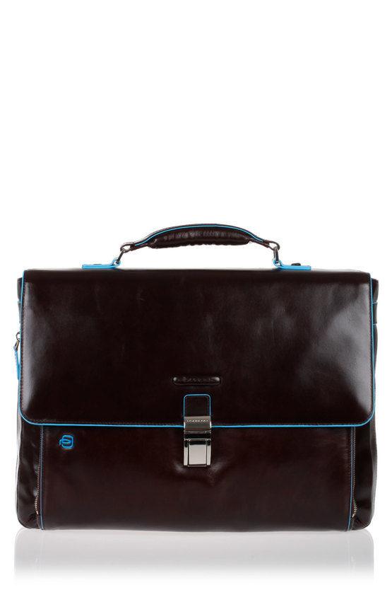 BLUE SQUARE Cartella Porta PC Espandibile Mogano