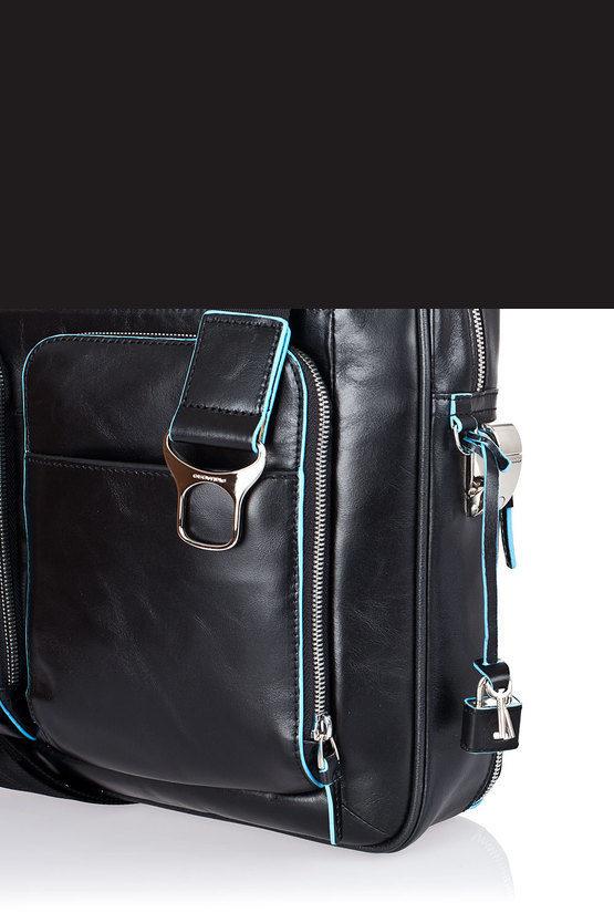 BLUE SQUARE Cartellina porta PC Nero