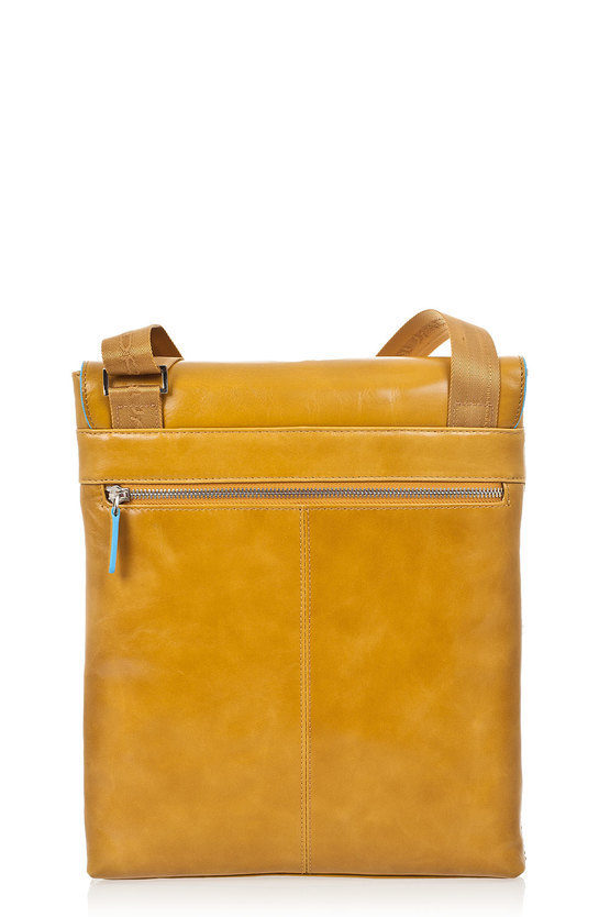 BLUE SQUARE Flat Crossbody Bag Giallo