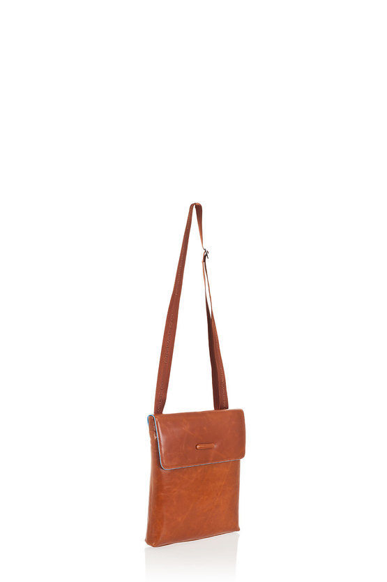 BLUE SQUARE Flat Crossbody Bag Orange