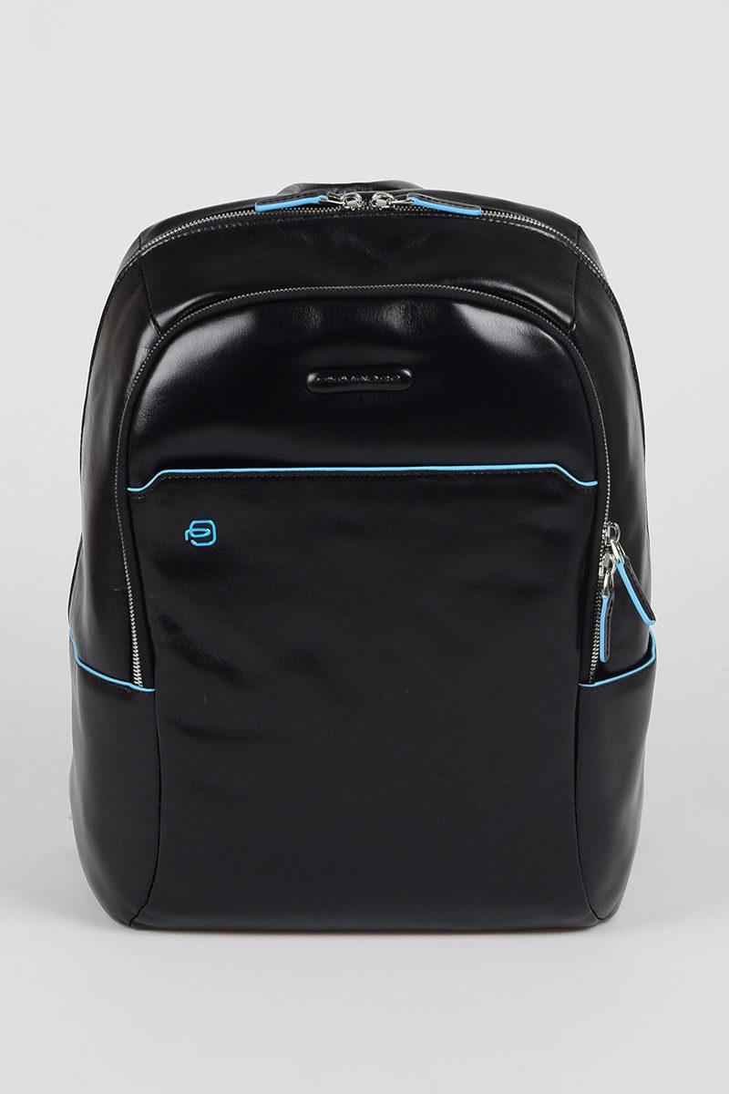 2bd9c8e5a00a Piquadro BLUE SQUARE Laptop Backpack 13   Black men - Cuoieria Shop ...