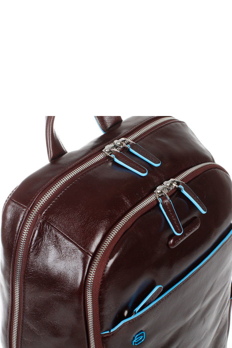 17341c9b840 BLUE SQUARE Laptop Backpack Mahogany Piquadro men - Cuoieria Shop On ...