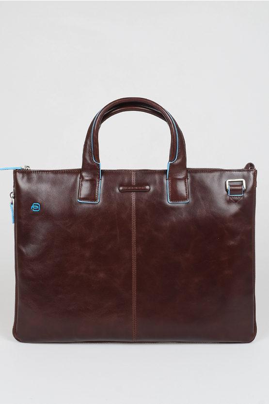 BLUE SQUARE Laptop Briefcase Brown