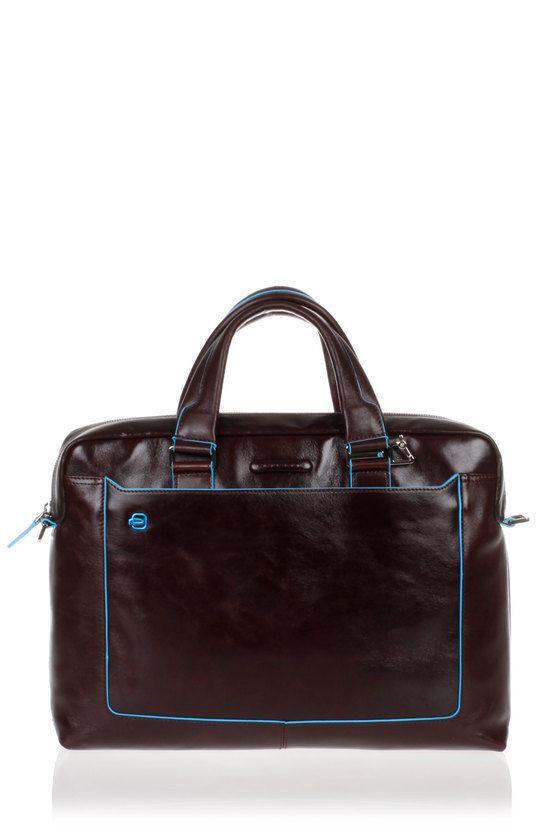 BLUE SQUARE Laptop Briefcase Mahogany
