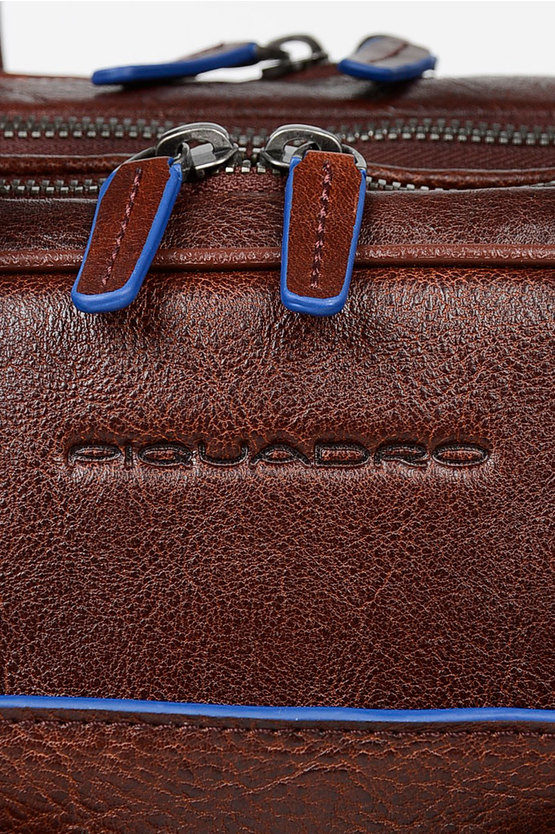 BLUE SQUARE Leather Business Bag Brown