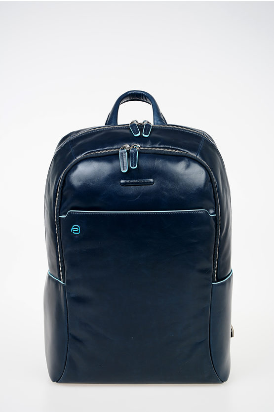 BLUE SQUARE Leather Computer Ipad Backpack Blue
