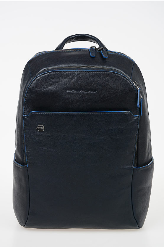 BLUE SQUARE Leather Ipad Backpack Blue
