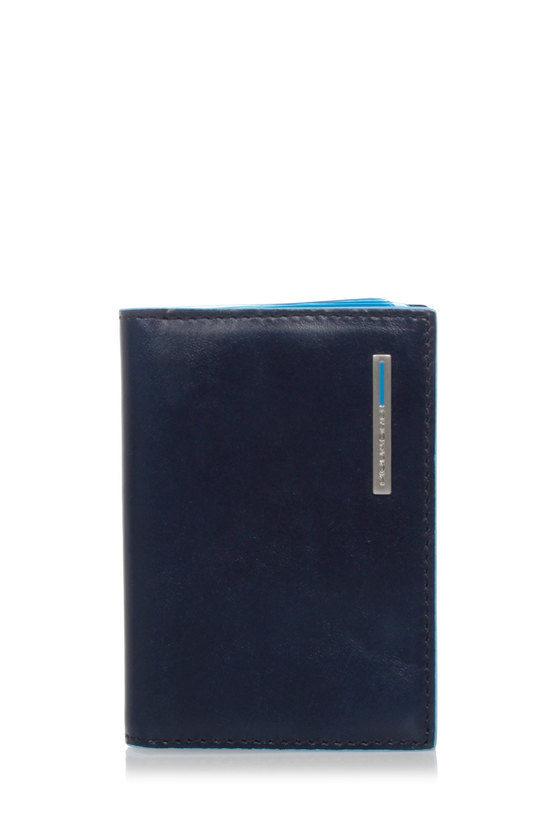 BLUE SQUARE Porta Carte di Credito Blu2
