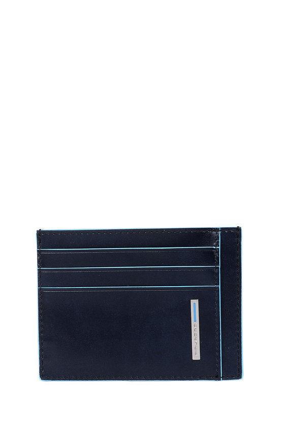 BLUE SQUARE Porta Carte di Credito Blu