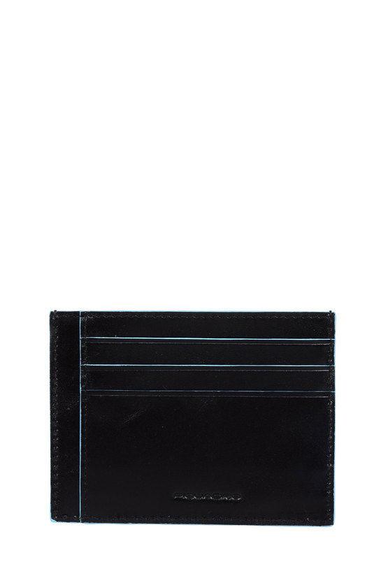 BLUE SQUARE Porta Carte di Credito Nero