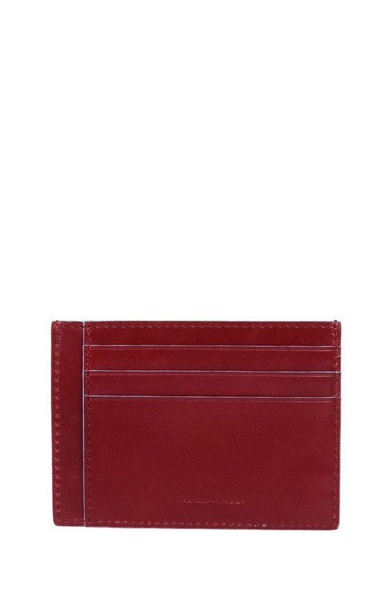 BLUE SQUARE Porta Carte di Credito Rosso