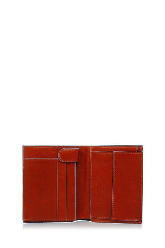 BLUE SQUARE Portafogli con porta Carte di Credito e Portamonete Arancio