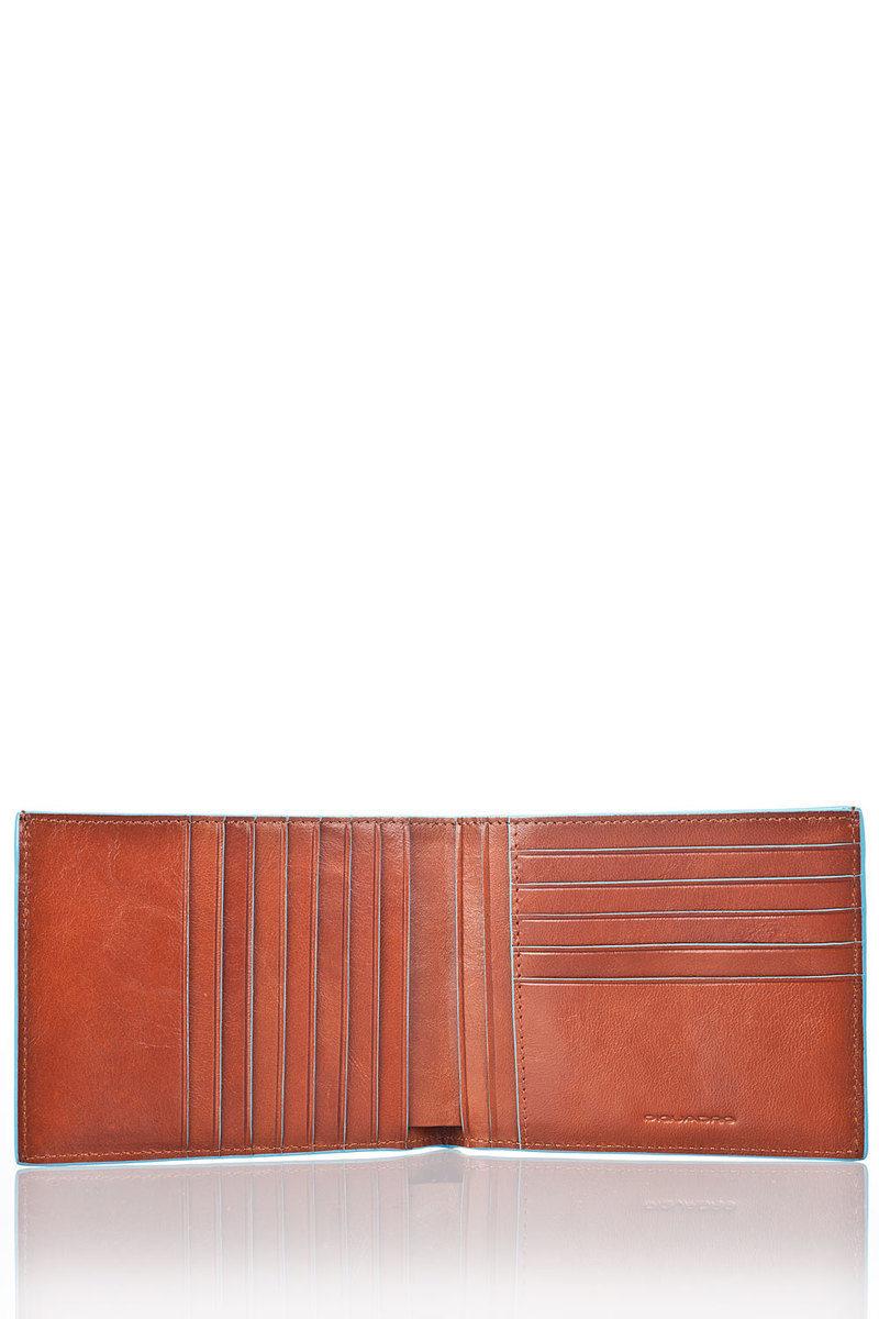 6f2159f0b1 BLUE SQUARE Portafoglio Arancio Piquadro uomo - Cuoieria Shop On-line