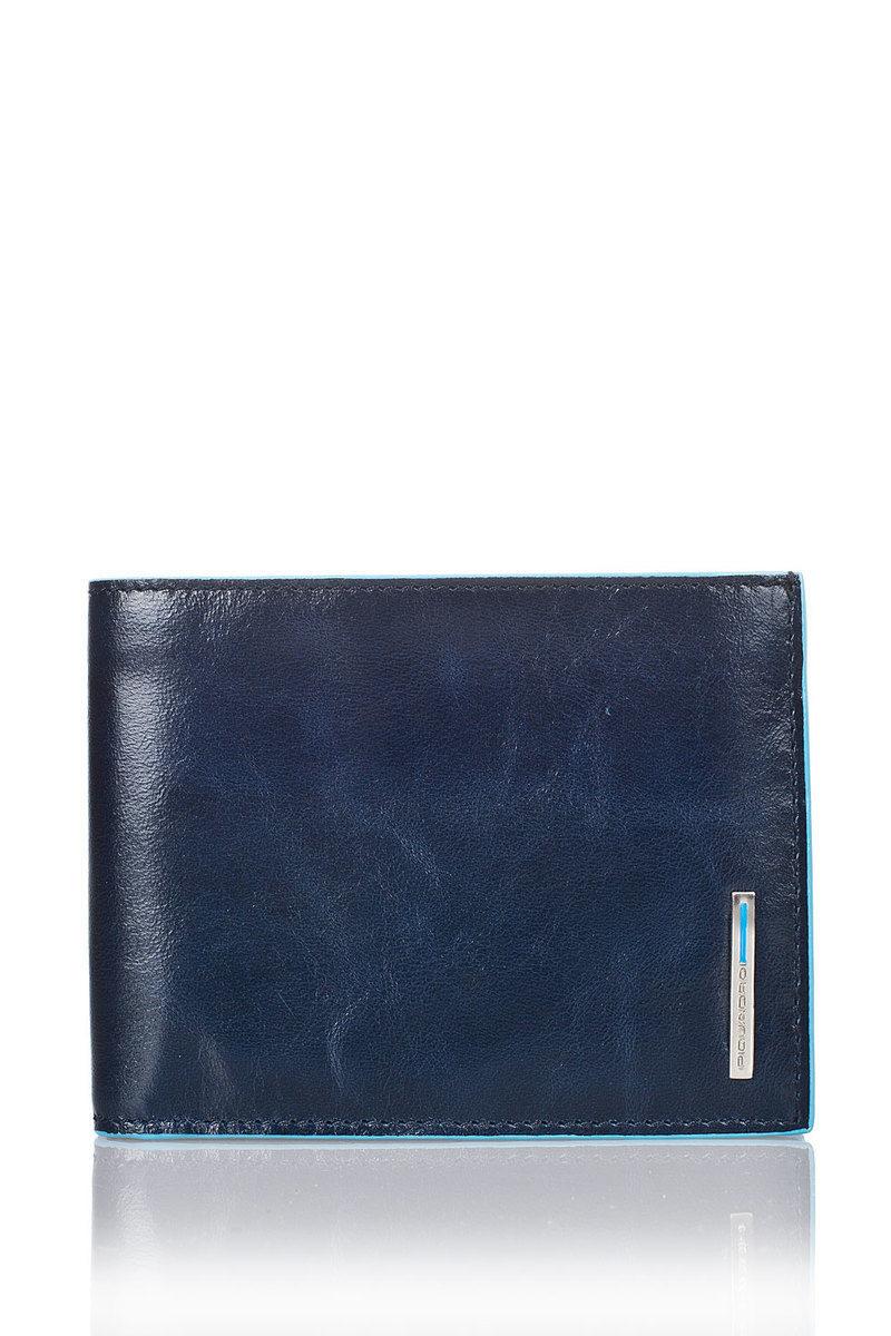 Piquadro BLUE SQUARE Portafoglio Blu uomo - Cuoieria Shop On-line e3344bb60d6