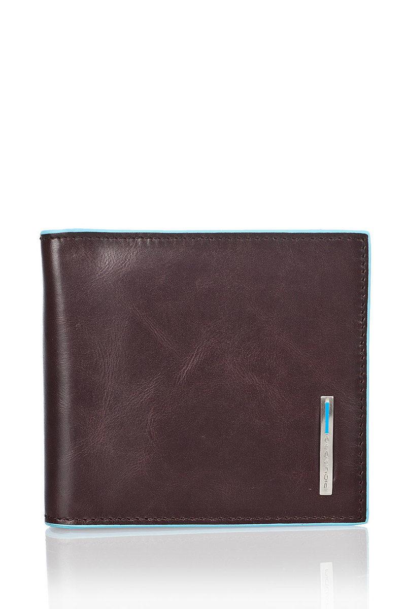 informazioni per 64fb0 6d3a7 BLUE SQUARE Portafoglio con Molla per Banconote Marrone ...