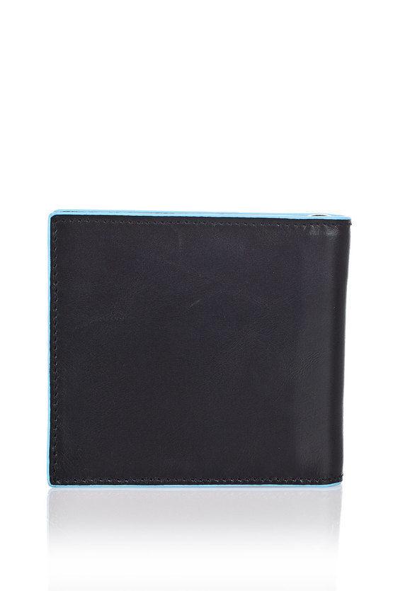 BLUE SQUARE Portafoglio con Molla per Banconote Nero